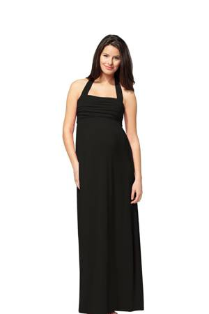 Ingrid & Isabel Convertible Maxi Maternity Dress (Black) by Ingrid & Isabel