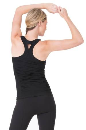 Ingrid & Isabel Racerback Active Maternity Tank (Jet Black) by Ingrid & Isabel