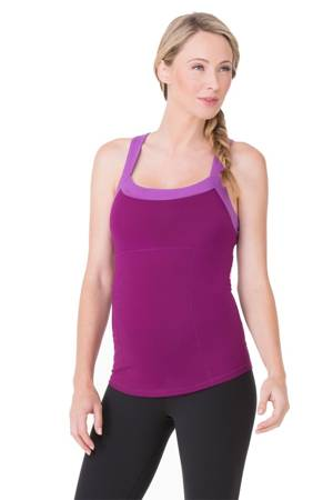 Ingrid & Isabel Racerback Active Maternity Tank (Mulberry & Orchid) by Ingrid & Isabel