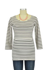 Boob Simone Organic Nursing Top (Off White/Black Stripes) by Boob