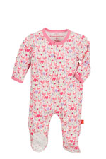 Magnificent Baby Girl's Footie (Love Birds) by Magnificent Baby