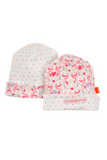 Magnificent Baby Reversible Baby Girl Cap (Love Birds) by Magnificent Baby