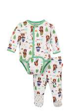 Magnificent Baby Boy's Burrito Set (Hipster Bear Band) by Magnificent Baby