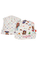 Magnificent Baby Reversible Baby Boy Cap (Hipster Bear Band) by Magnificent Baby