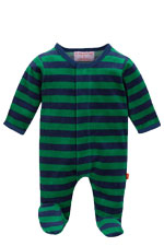 Magnificent Baby Boy's Velour Footie (Green/ Navy Stripes) by Magnificent Baby