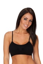Coobie Strappy Scoopneck Seamless Bra (Black) by Coobie Seamless Bras