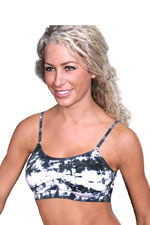 Coobie Strappy Scoopneck Seamless Bra (Night Sky Tie-Dye) by Coobie Seamless Bras