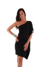 Bennett Maternity Dress (Black) by Everly Grey