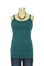 Leah Ruched Nursing Singlet (Ocean Green) by Boob