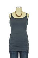 Leah Ruched Nursing Singlet (Graphite Grey) by Boob