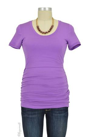 Boob Design Short Sleeve Ruched Nursing Top (Lilac) by Boob Design