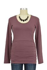 Boob Cloe Ruched Long Sleeve Nursing Top (Taupe) by Boob