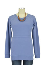 Boob B-Warmer Nursing Sweatshirt (Steel Blue) by Boob