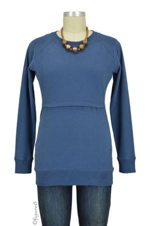 Boob Design B-Warmer Organic Nursing Sweatshirt (Storm) by Boob Design