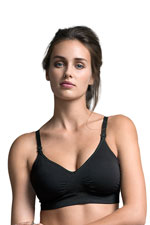 Boob Design Fast Food Padded T-Shirt Nursing Bra (Black) by Boob Design