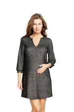 Stella Shift Maternity Dress (Black Twill) by Maternal America
