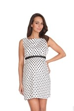 Seraphine Martina Polka Dot Maternity Dress (Black & Ivory Dot) by Seraphine
