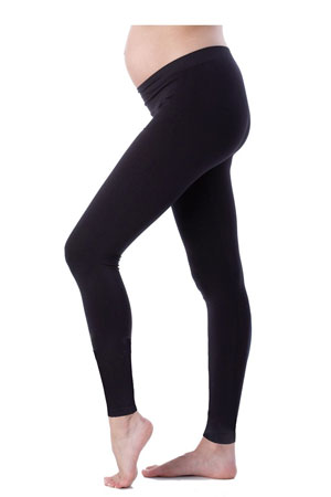 Seraphine Tammy Under Bump Bamboo Maternity Leggings (Black) by Seraphine
