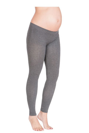 Seraphine Tammy Under Bump Bamboo Maternity Leggings (Grey) by Seraphine