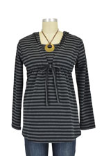 Aja Stripes Nursing Hoodie (Black Stripes) by Annee Matthew
