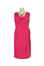 Ezra Drape Front Nursing Dress (Rose) by Japanese Weekend