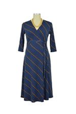 Perfect Wrap Maternity Dress (Blue Ribbon) by Leota Maternity