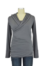 The Belinda Nursing Hoodie (Gunmetal) by Majamas
