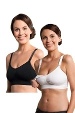 Carriwell Seamless Padded Nursing Bra - 2 Pack (Black & White) by Carriwell