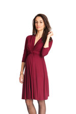 Seraphine Jolene 3/4 Sleeve Maternity Dress (Claret) by Seraphine