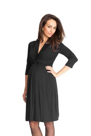 Seraphine Jolene 3/4 Sleeve Maternity Dress (Black) by Seraphine