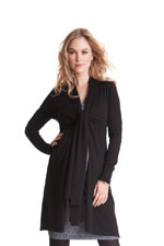 Seraphine Lena Front Tie Cardigan (Black) by Seraphine
