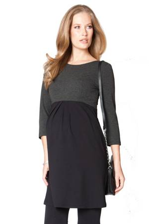 Seraphine Kitty Maternity Dress (Black & Charcoal) by Seraphine