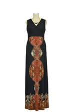 Anika Border Print Maxi Nursing Dress by Sophie & Eve