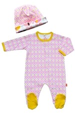 Magnificent Baby Girl's Footie and Reversible Cap Set (Marrakesh) by Magnificent Baby