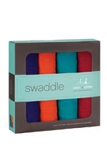 Australian Muslin Swaddling Wraps - 4 Pack - Be-Jeweled (Multi-Color) by Aden & Anais