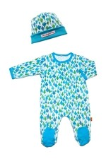 Magnificent Baby Boy's Footie and Reversible Cap Set (Blue Kites) by Magnificent Baby