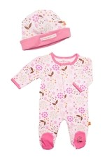 Magnificent Baby Girl's Footie and Reversible Cap Set (Mod Floral) by Magnificent Baby
