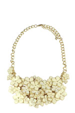 Claire Floral Necklace (Ivory Floral) by Jewelry Accessories