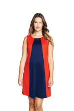 Sophie Ponte Knit Pyramid Maternity Dress (Red & Navy) by Maternal America