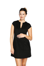 Camila Ponte Maternity Shift Dress with Pockets (Black) by Maternal America