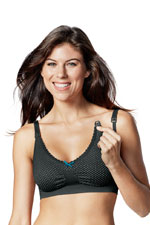 Bravado Confetti Nursing Bra (Black with Polka-Dots) by Bravado