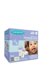 Lansinoh Breastmilk Storage Bags- 100 count (Clear) by Lansinoh