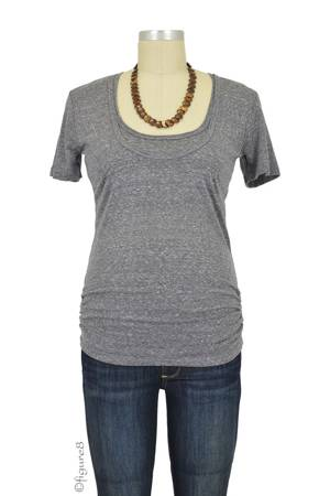 Bun Tri-Blend Cozy Maternity & Nursing Tee (Charcoal Black) by Bun Maternity & Nursing