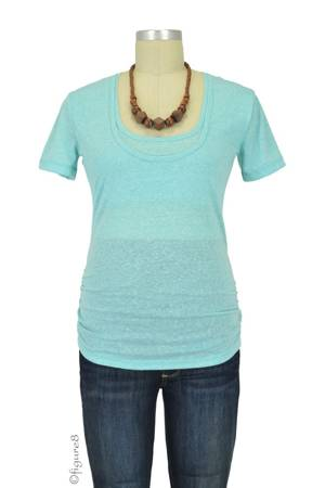 Bun Tri-Blend Cozy Maternity & Nursing Tee (Turquoise) by Bun Maternity & Nursing