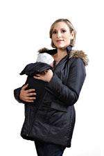 Modern Eternity 3-in-1 Maternity Coat (Black) by Modern Eternity