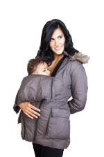 Modern Eternity 3-in-1 Maternity Coat (Dark Grey) by Modern Eternity