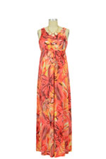 Jenny Maxi Nursing Dress (Hawaiian Print) by Larrivo