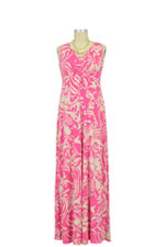 Ella Maxi Nursing Dress (Pink & Cream Ikat) by Larrivo