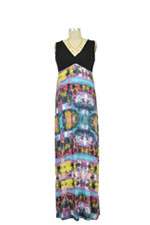 Santorini Maxi Nursing Dress (Print) by Japanese Weekend