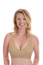 Rumina Classic Crossover Hands-Free Pump & Nurse Bra (Nude) by Rumina